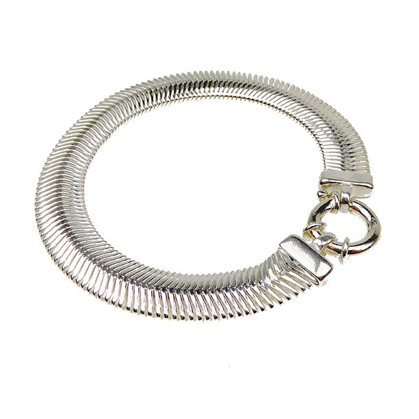 Armbånd & halskæde - Oval snake 10x3mm Blank