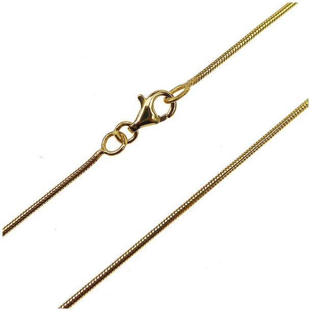 Armbånd & halskæde - Slange 1mm Forgyldt