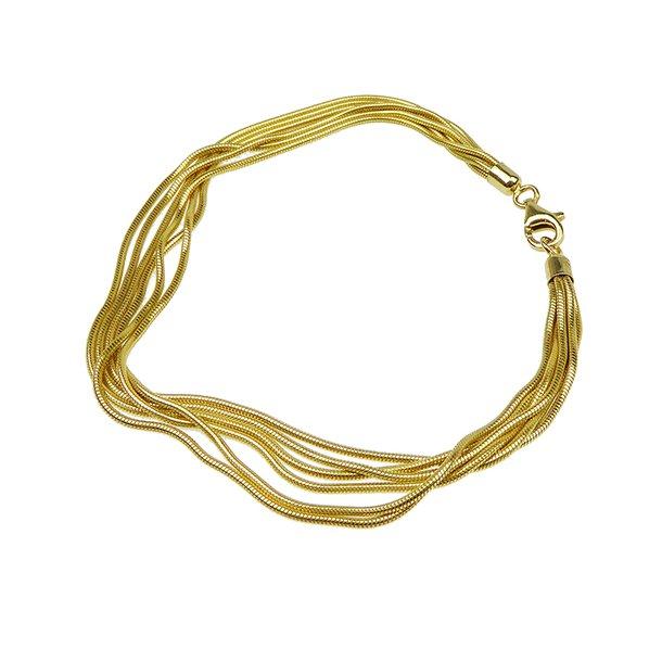 Armbånd & halskæde - 6 rk.Slange/Forgyldt
