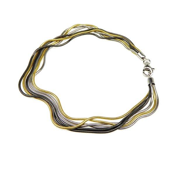 Armbånd & halskæde - 6 rk. & 3 farvet Slange
