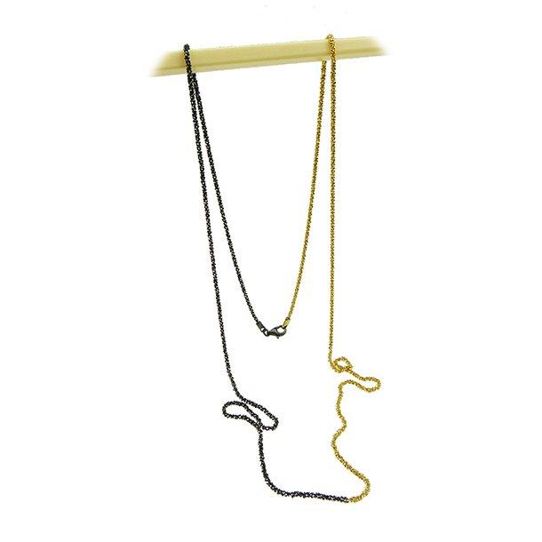 Armbånd & Halskæde 17-100cm - DiamondCut oxid/gold