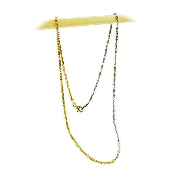 Armbånd & Halskæde 17-100cm - DiamondCut rhodium/gold