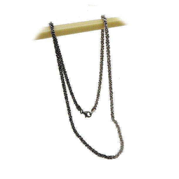 Armbånd & Halskæde 16-100cm - DiamondCut oxid/rhodium