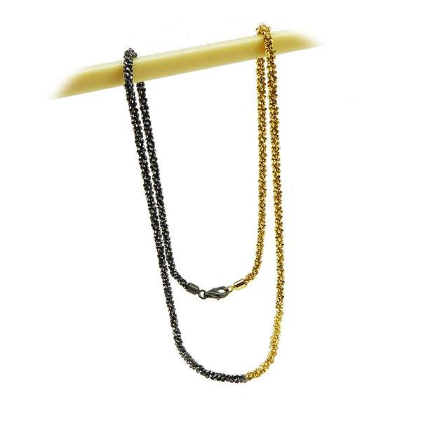 Armbånd & Halskæde 16-100cm - DiamondCut oxid/gold