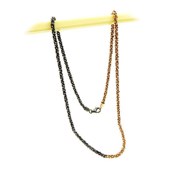 Armbånd & Halskæde 16-100cm - DiamondCut oxid/rose