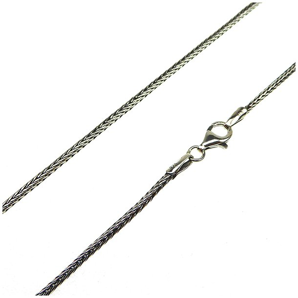 Halskæde - 1,7mm rævekæde i Sterlingsølv.Nr.60501-02
