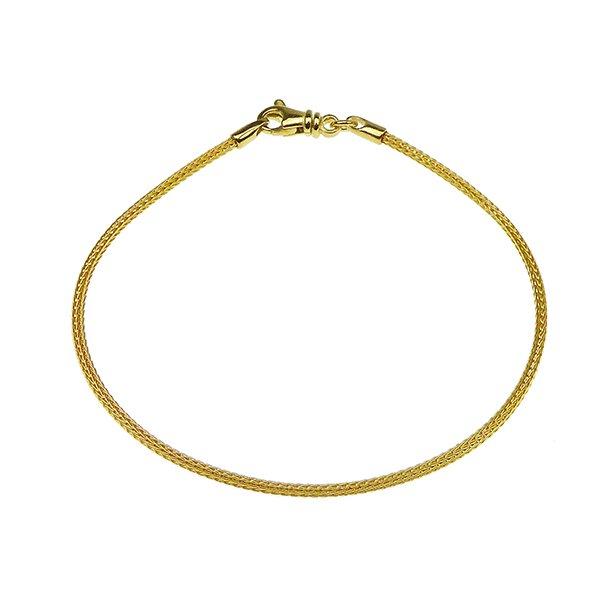 Armbånd & halskæde - Ø 1,6mm - Goldplated