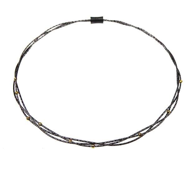 869473-C, 3 rk/rows Necklace