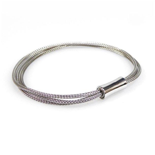 Armbånd & halskæde - 3 rk. rhodineret Sterlingsølv