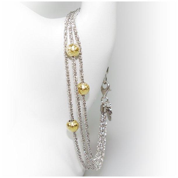 Armbånd & Halskæde - 3 rk. med 3 stk Magic Beads-Ø6mm