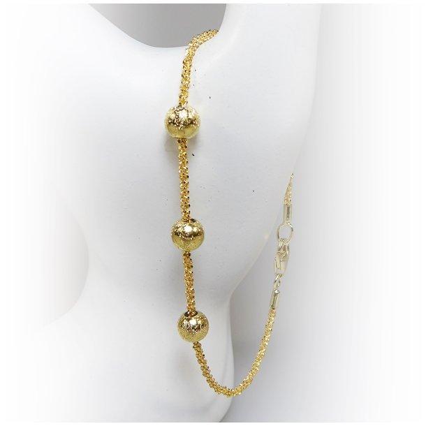 Arm - Halskæde m. 3 stk Magic Beads-Ø6mm
