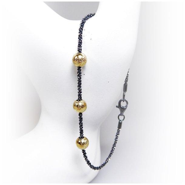 919. Arm - Halskæde m. 3 stk Magic Beads-Ø6mm