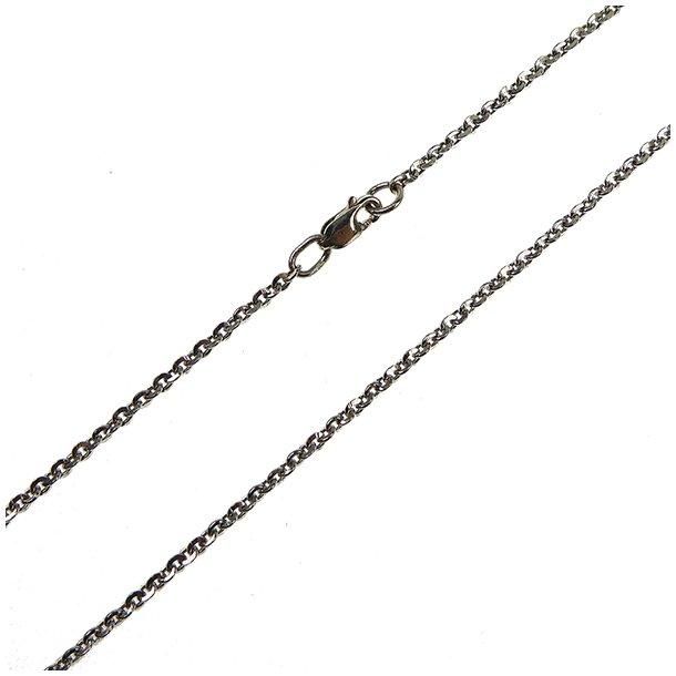 Armbånd & halskæde - Anker DiamondCut Sterlingsilver/rhodium 0,5mm