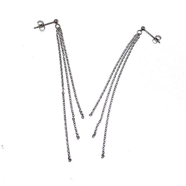 Øreringe - DiamondCut sterlingsølv/rhodium