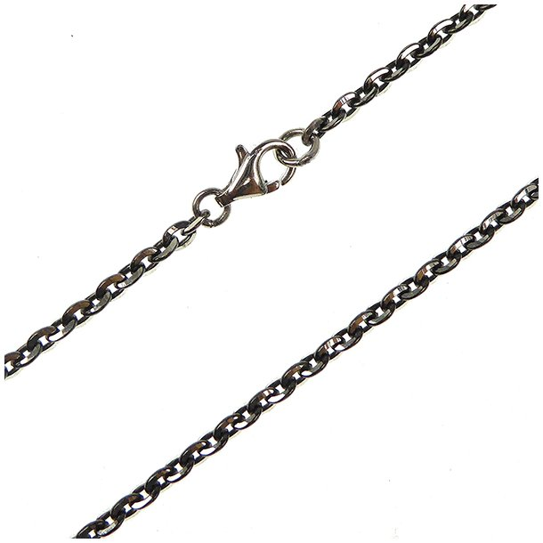 Armbånd & halskæde - Anker DiamondCut Sterling/Ruthenium 0,8mm
