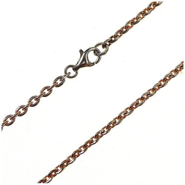 Armbånd & halskæde - Anker DiamondCut Sterling/Rose 0,8mm