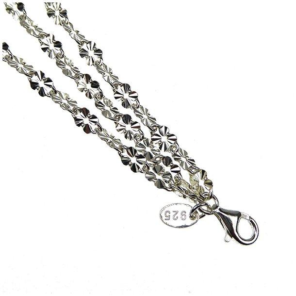 Armbånd & halskæde - 3 rækket blank/925