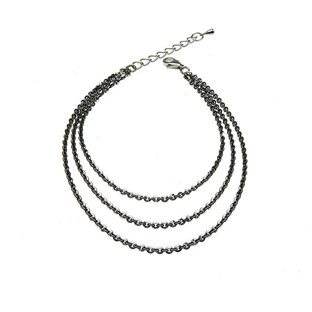 938444-Brace/Necklace-Sterlingsilver/ruthenium