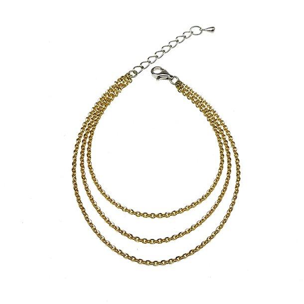 Brace & Necklace Sterlingsilver/925 Goldplated
