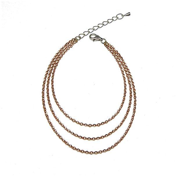 Brace & Necklace Sterlingsilver/925 Rose