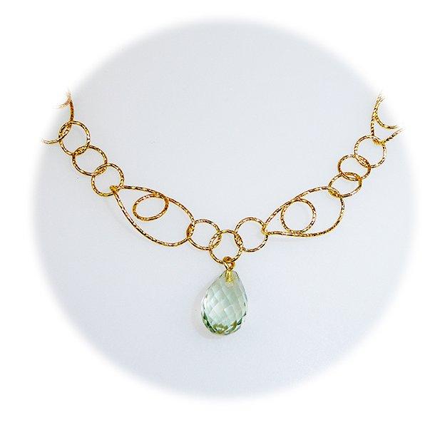 95007.Charleston-Brace/Necklace Grøn Ametyst/goldplated