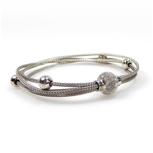 Armbånd & halskæde - Rhodineret