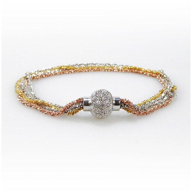 4 rk.DiamondCut/925 kædedesign Nr.956578
