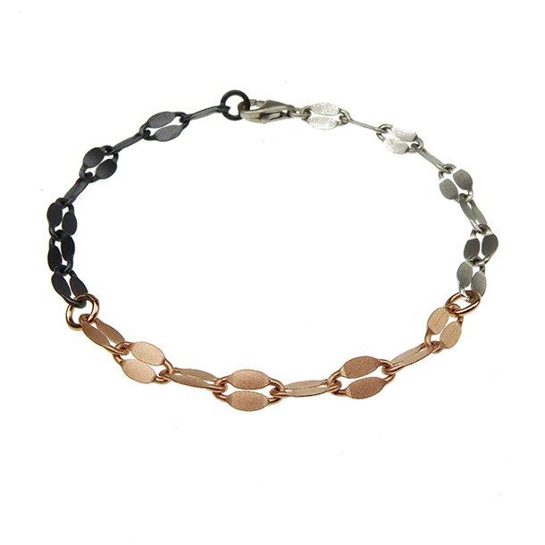 Armbånd & halskæde - 3farvet/mat