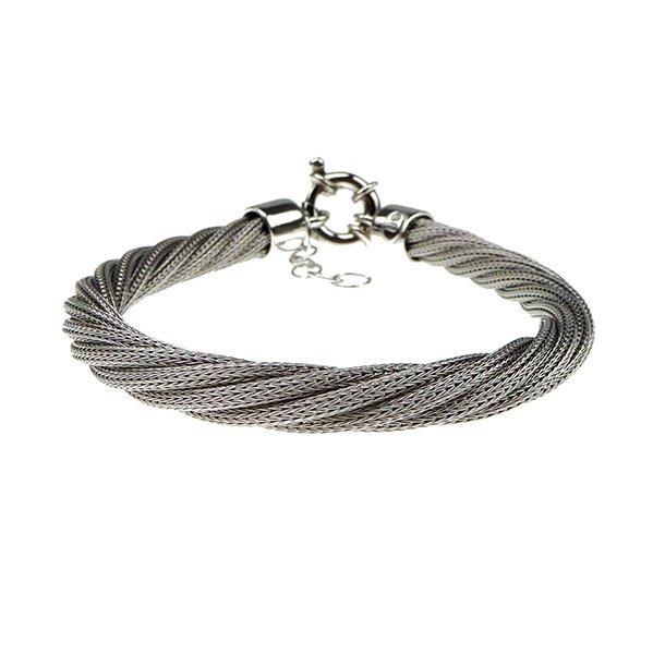 Armbånd & Halskæde - Rhodineret Ø 6,5mm