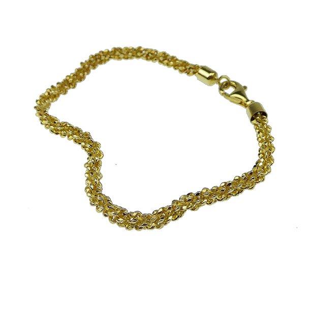 Armbånd & halskæde - Goldplated/925-DiamondCut=3,8mm diameter