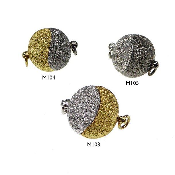 12mm Magnetlås-DiamondCut/925-2 farvet