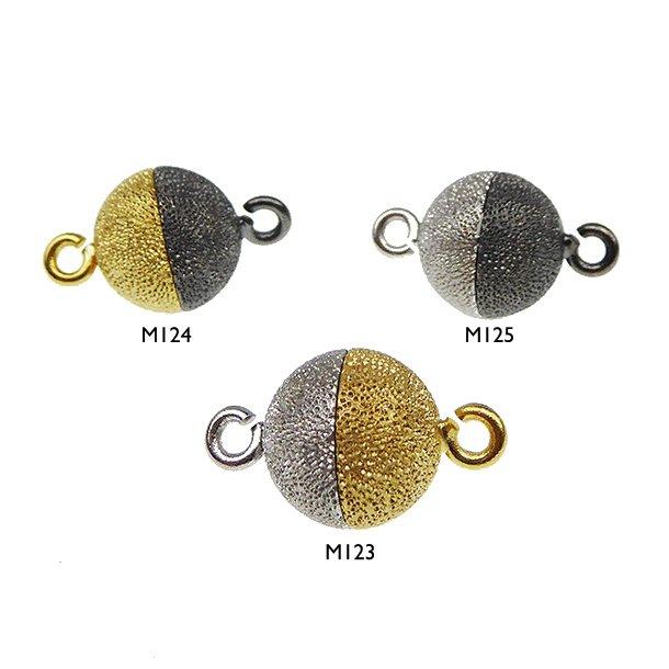 Magnetlås - 12mm - Sterlingsølv/925 - DiamondCut/2 farvet