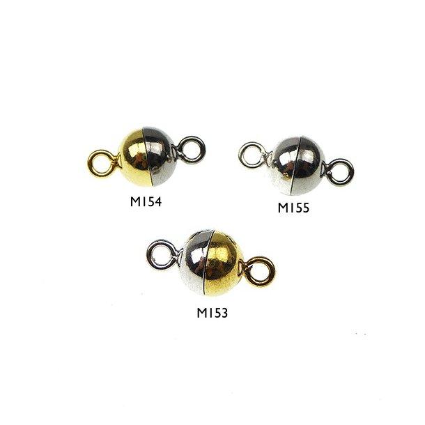 Magnetlås - 6mm - Sterlingsølv/925 -glat/2 farvet
