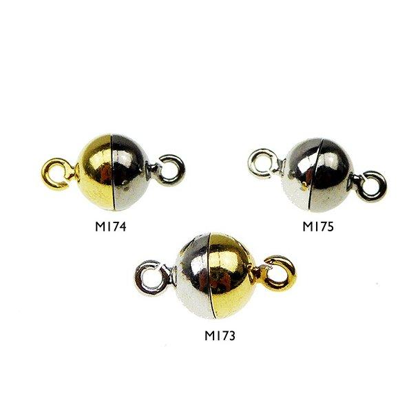 10mm Magnetlås-glat/925-2 farvet