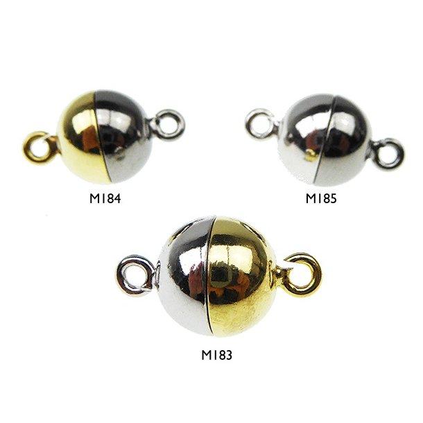 Magnetlås - 12mm - Sterlingsølv/925 - glat/2 farvet