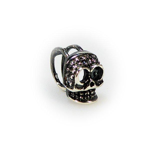 Charms - Dødningehoved / Skull oxidised/925