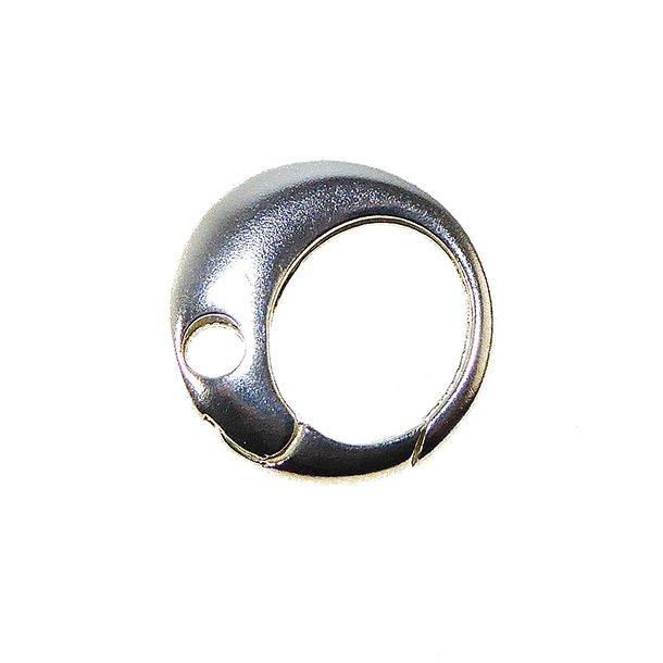 Smykkelås 19mm rund/glat i sterlingsølv